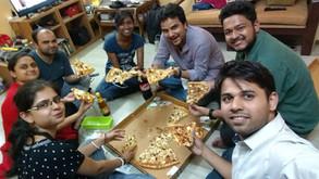 Ind vs Pak ricket pizza party