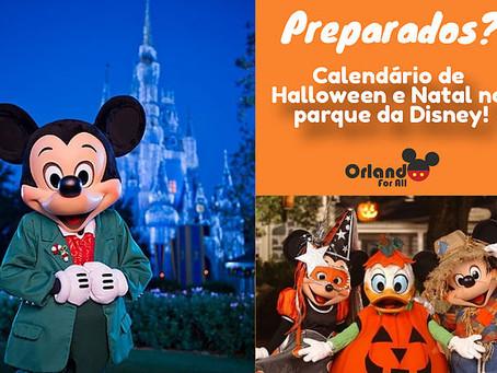 Calendário de Halloween e Natal na Disney, já estão disponíveis!