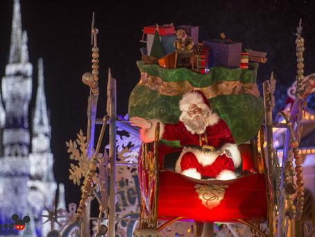 Comemorações de Natal no Magic Kingdom.