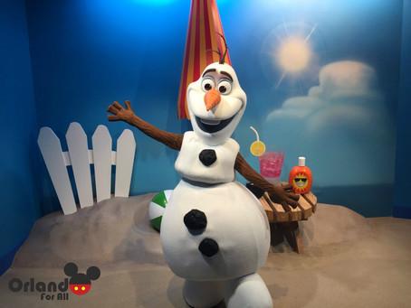 Encontre o Olaf no Hollywood Studios.