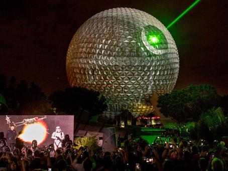 Spaceship Earth se transforma em ícone de Star Wars.
