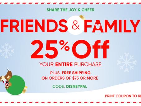 Disney Store com 25% de desconto!