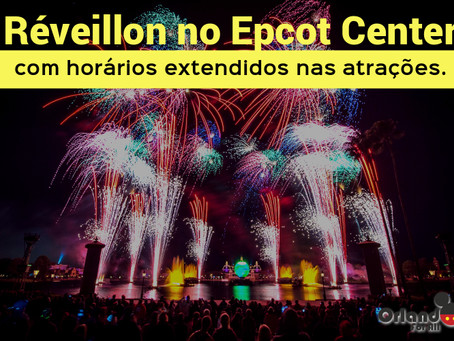 Ano Novo no Epcot Center.