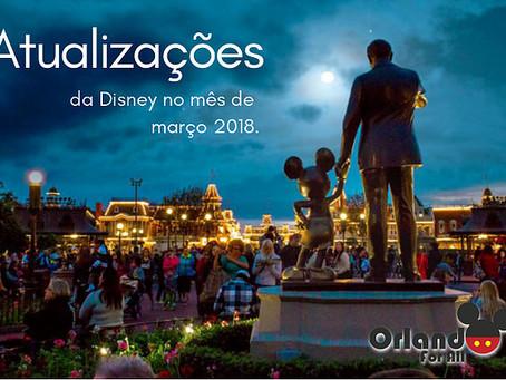 Atualizações Disney em março!