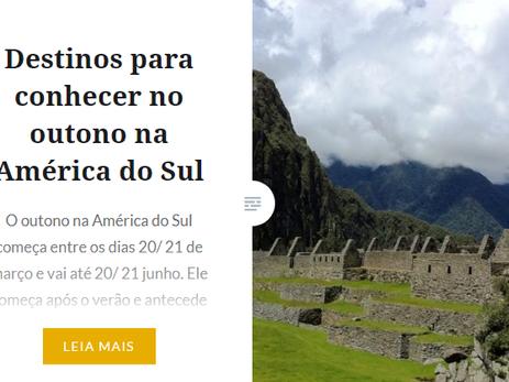 Indicações de viagens na América Latina.