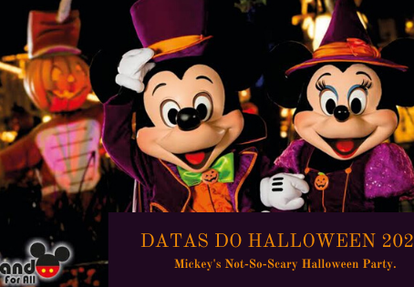 Divulgadas as datas de Halloween na Disney!