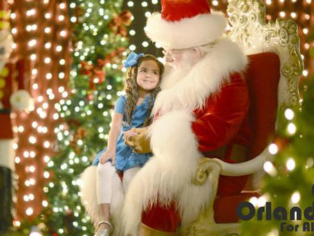 Papai Noel no Disney Springs.
