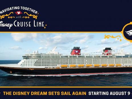 Disney Cruise volta a navegar na Flórida.