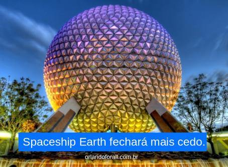 Spaceship Earth fecharpa mais cedo alguns dias.