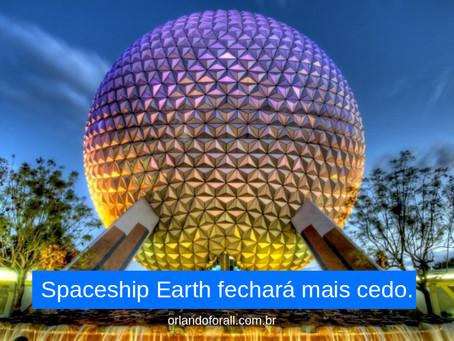 Spaceship Earth fechará mais cedo alguns dias.