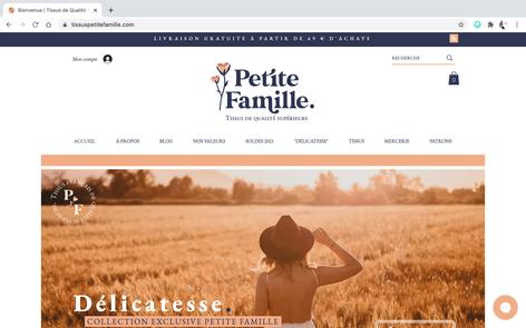 Petite Famille - Boutique de tissus