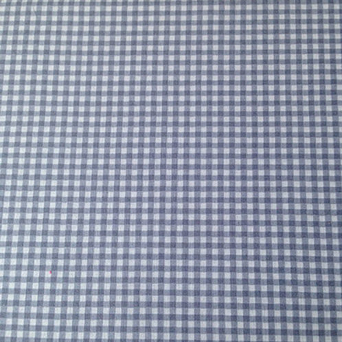 Coupons Coton bleu gris vichy 50 cm