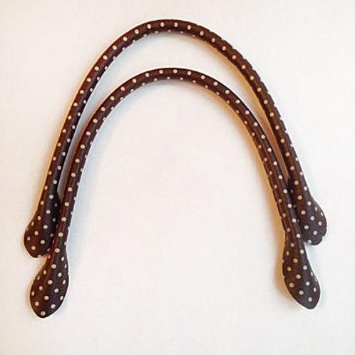 Anses de sac brun Pois blanc