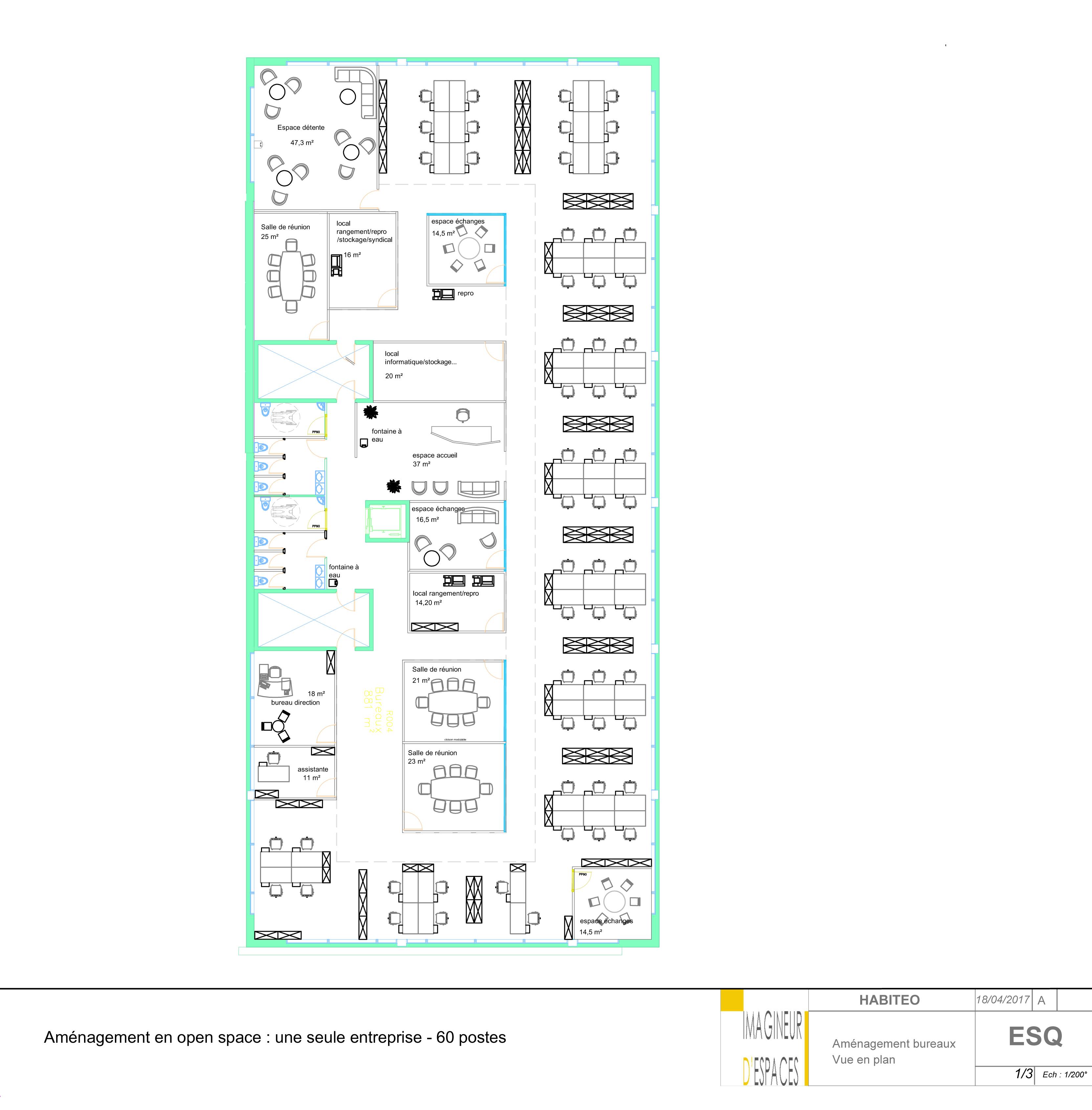 Aménagement bureaux en OpenSpace