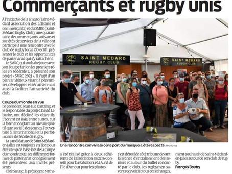 Commerçants et rugby unis !