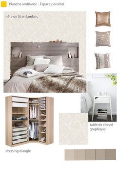 Planche d'ambiance - Chambre