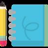 Carnet de note + crayon pour assister aux ateliers du coworking pour développer vos activités