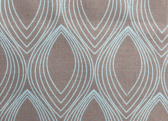 Coupon FORME GEOGRAPHIQUE BLANCHE by Stof Fabrics - 45 cm