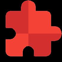 image material design pièce de puzzle pour illustrer le bénéfice client construire votre portefeuille de projets