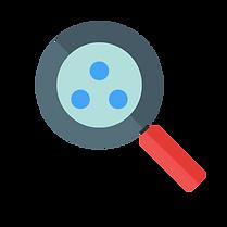 image material design loupe pour illustrer le bénéfice client détecter vos opportunités