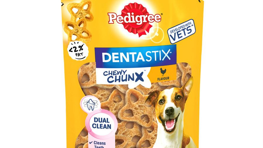 Pedigree Dentastix Chewy Chunx Mini Dog Treat Chicken Flavour