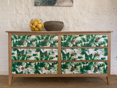 Tropical decoupage Chest of Drawers