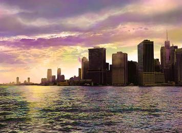 View № 37, Purple Sky/New York Harbor