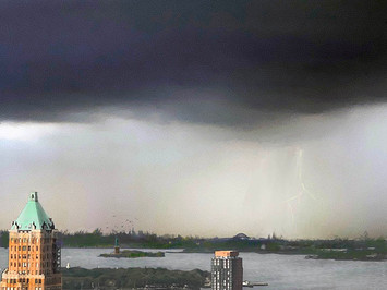 View №7, Stormy Skies/New York Harbor