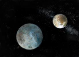Ganymede and Europa