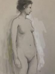 Study; Standing Pose, (Ava)