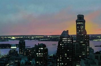 View №3, Nightfalls on New York Harbor