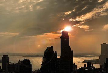 View №35, Sunset/New York Harbor