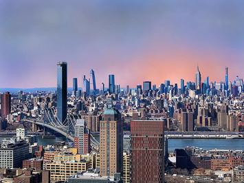 View №5, Manhattan Island/Glowing Sky