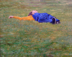 Splendiferous in the Grass (Young Boy Laying in a Field)