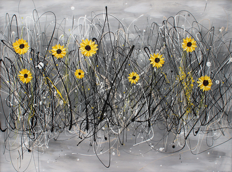 Sunflowers in Black & White (sold)