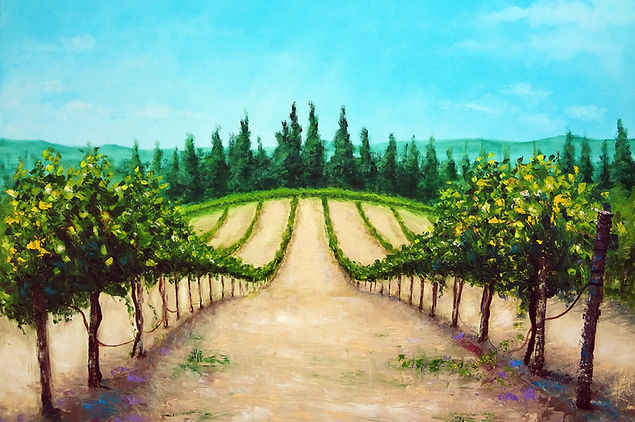vineyard oil painting