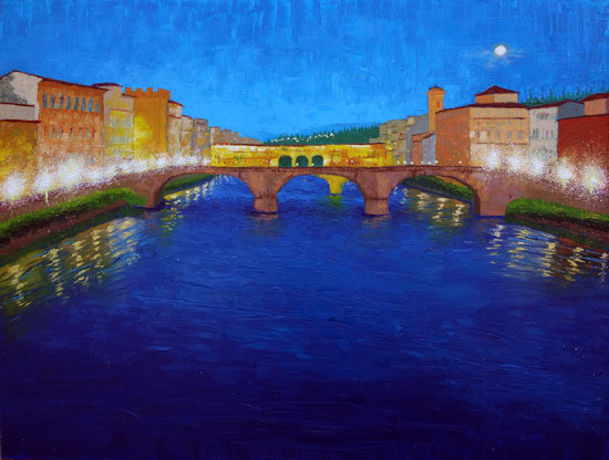 The Arno at Night (sold)
