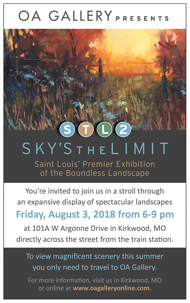 sky's the limit art exhibit oa gallery in Kirkwood mo