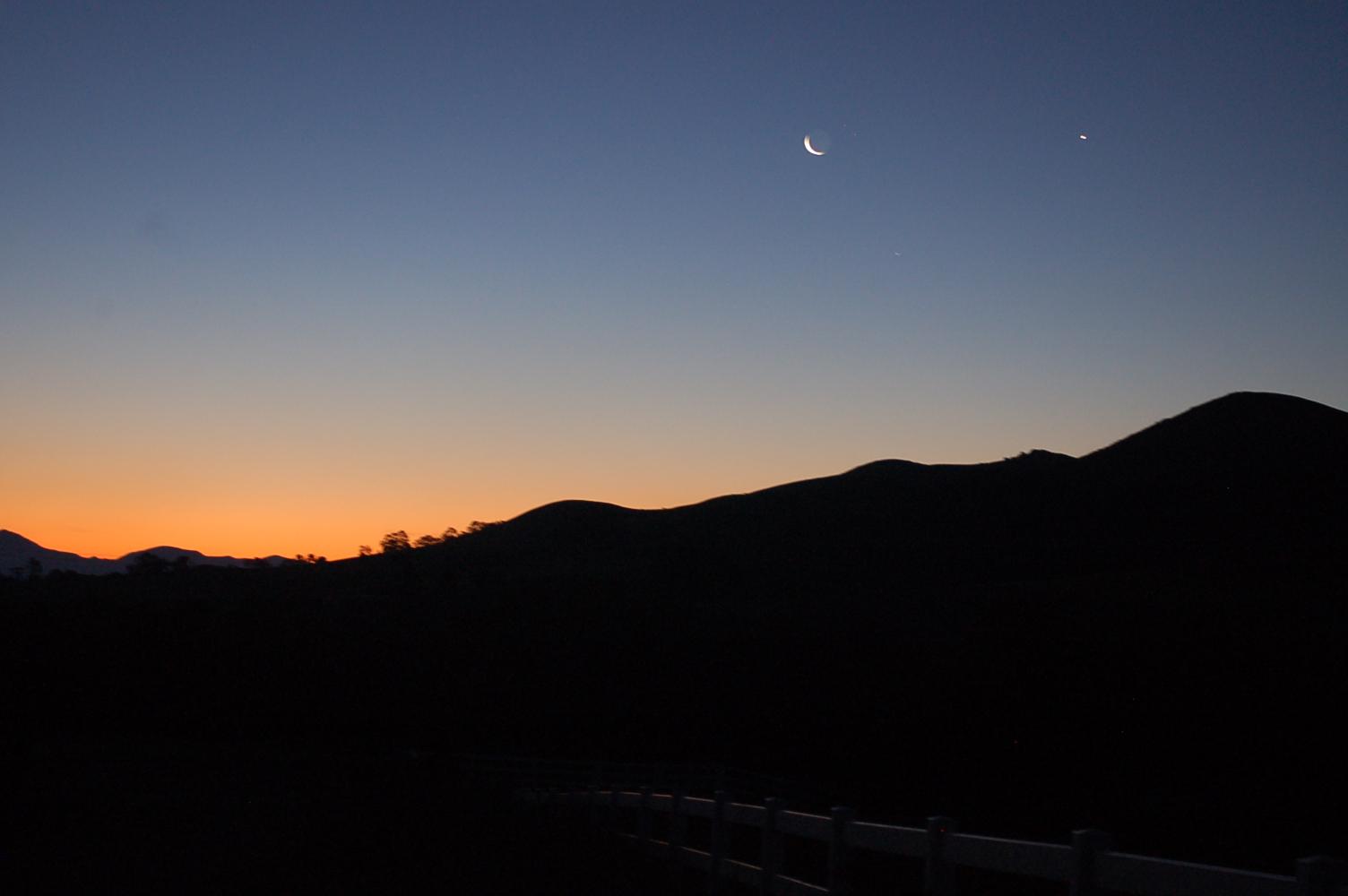 Springtime sunrise
