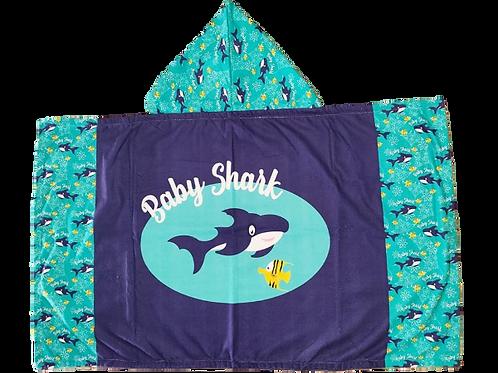 Cape de bain Baby shark Bleue