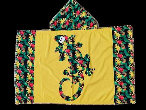 Cape de bain Gecko jaune