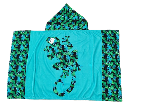 Cape de bain Gecko Bleue