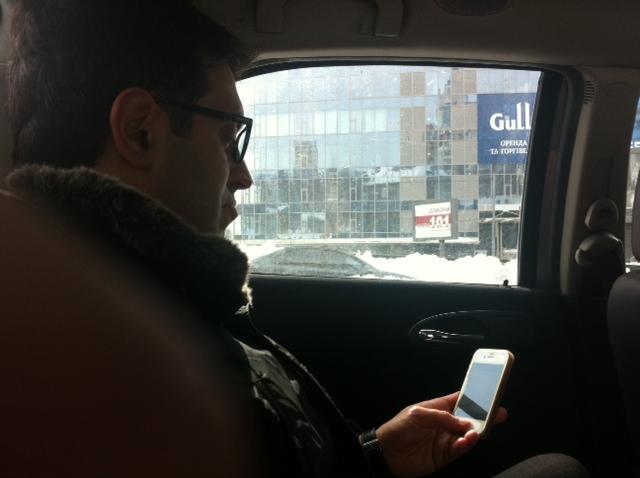 In auto verso la Filarmonica Odessa