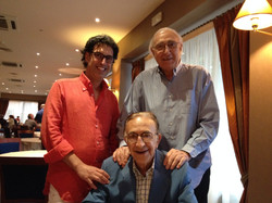 Con Tuccio Musumeci (mio papà) e Pippo Baudo