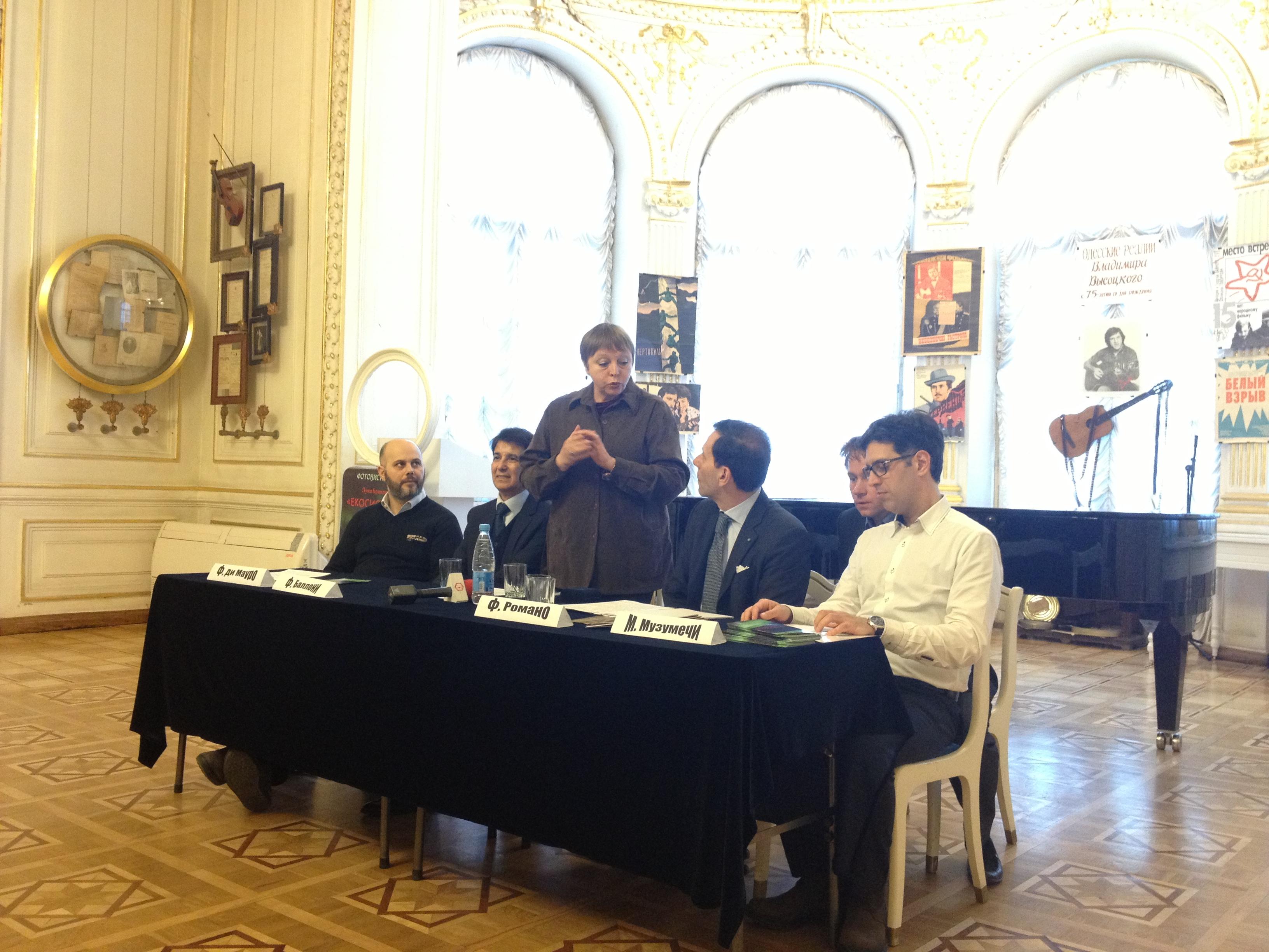 Conferenza stampa a Odessa