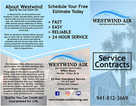 WESTWIND AC SERVICE CONTRACT BROCHURE OU