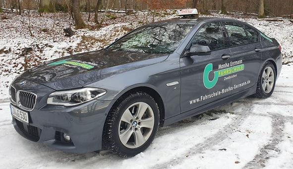 Fahrschule Monika Germann Zweibrücken, BMW 530D Automatikfahrzeug für B und BE