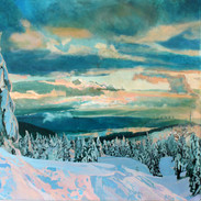 """""""Mount Seymour Diptych"""" (Right Side)"""