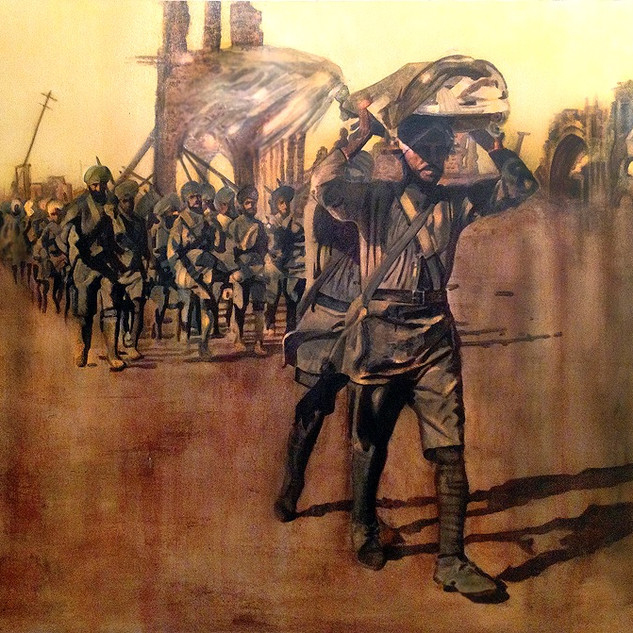 Sikh Army Marching
