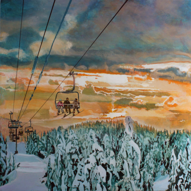 "Mount Seymour Diptych"" (Right Side)"